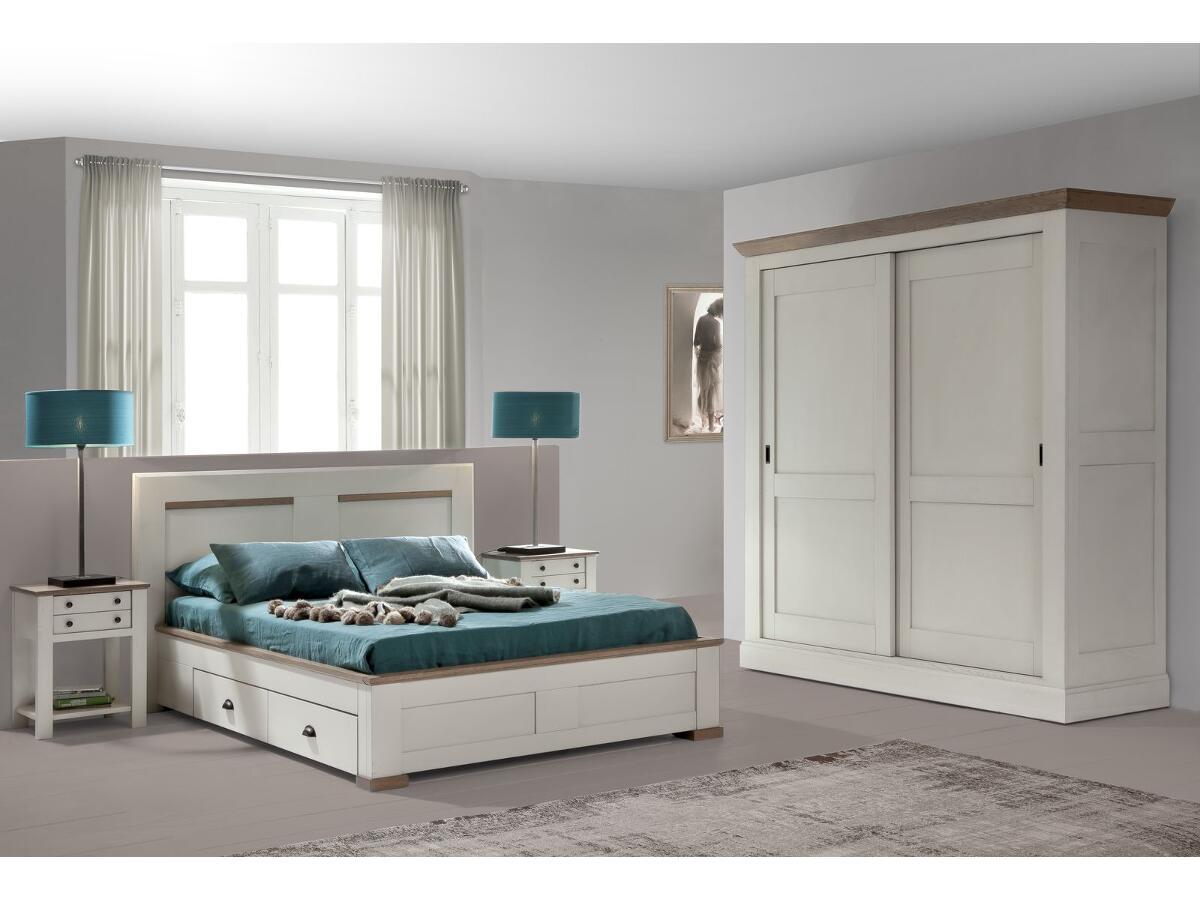 lit 2 tiroirs couchage 140x190 moncoutant. Black Bedroom Furniture Sets. Home Design Ideas