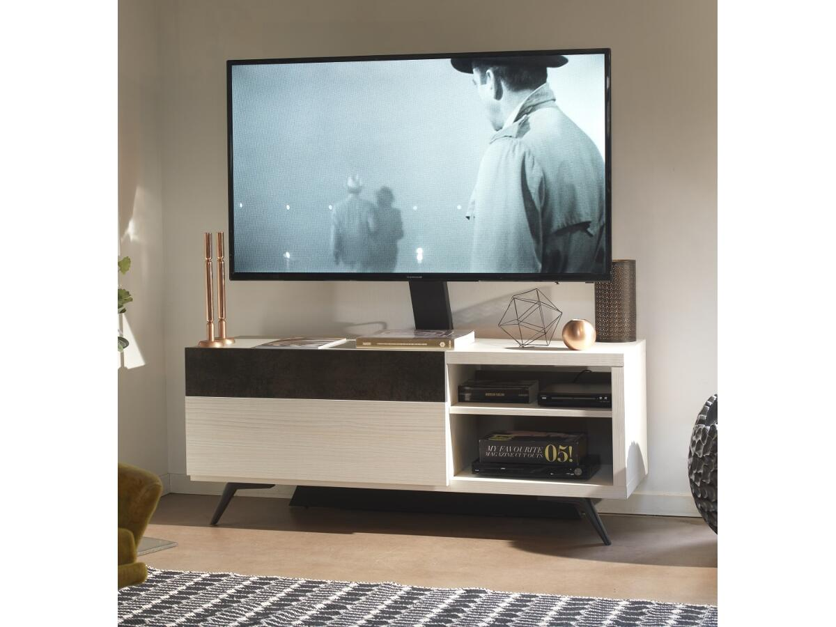 cool meuble tv tboiscram niches option supprt tv with meuble tv chevalet. Black Bedroom Furniture Sets. Home Design Ideas