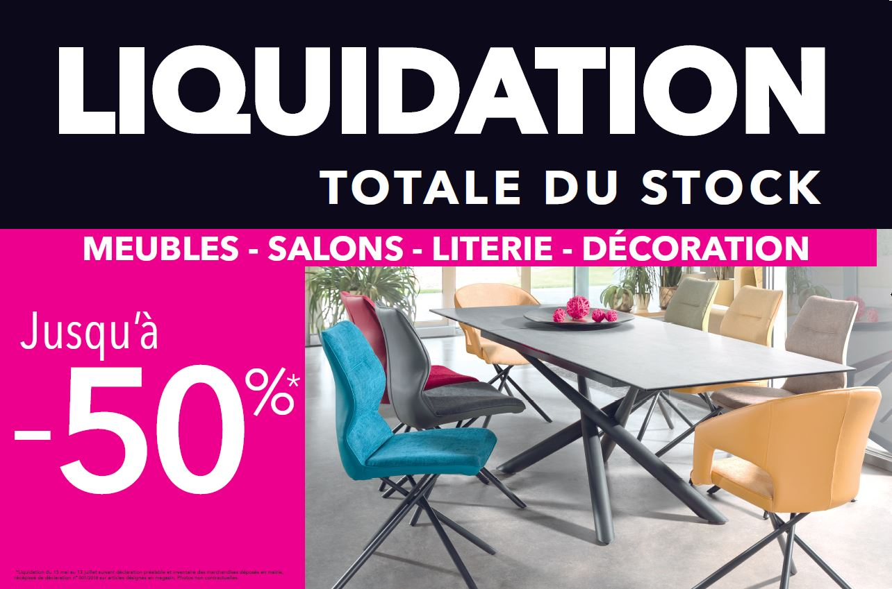 LIQUIDATION TOTALE DU STOCK